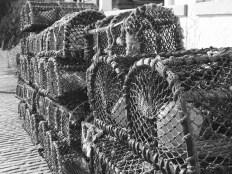 Mullion Harbour lobster traps.