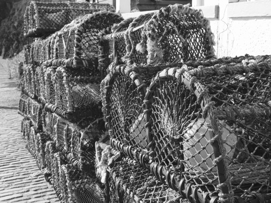 Mullion Harbour lobster traps.