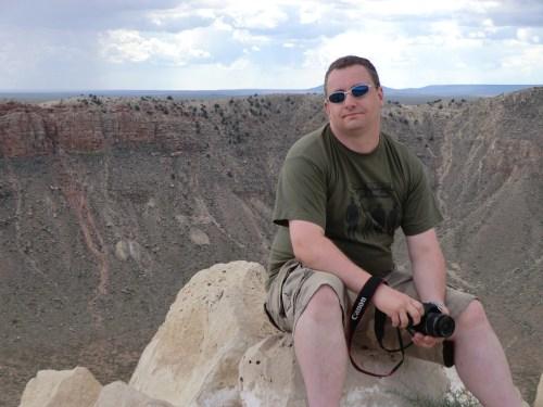 Nick Cook at Meteor Crater