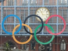 Olympic Rings at King's Cross