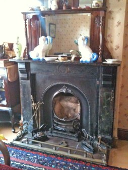 Front parlour room fireplace