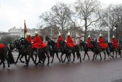 Horse Guards travelling towards Buckingham Palace.
