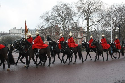 Horse Guards travelling towards Buckingham Palace.