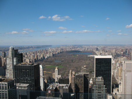 View of Central Park from 'Top of the Rock' observation deck at Rockefeller Center