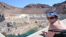 Sam at the Hoover Dam spillway