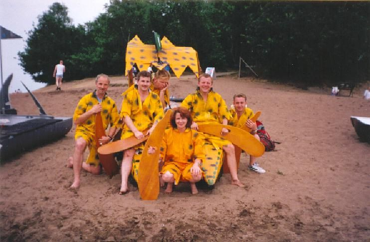 Boat race at Well Lake just over the Dutch border while based at RAF Laarbruch 1994