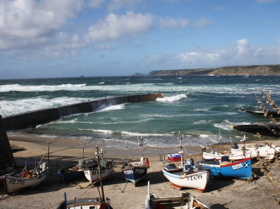 Sennen harbour near Land's End.