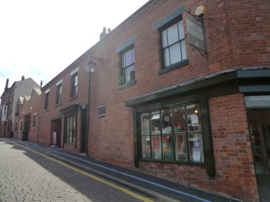 Victoria Street and DH Lawrence birthplace left of the museum.
