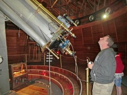 Operating the dome of the Lowell Observatory