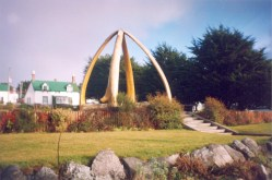 Whalebone Arch at Christ Church Cathedral, Port Stanley, Falkland Islands.