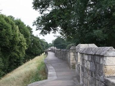 City walls of York. A nice walk around the city.