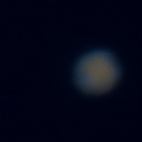 Mars. A poor capture from a knackered webcam