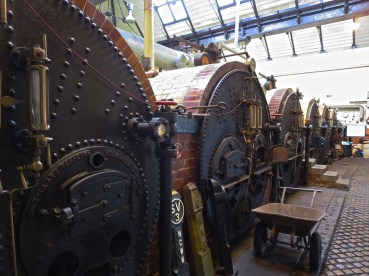 Papplewick boiler room showing the six Lancashire boilers.