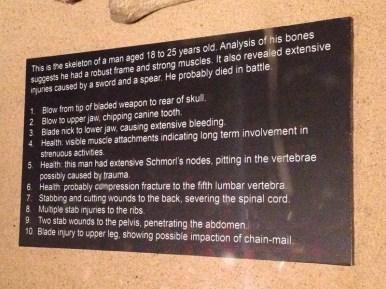 Jorvik skeleton battle injury list
