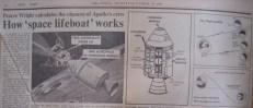 Newspaper article for Apollo 13