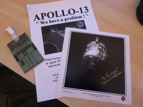 My goodies from the day. A nice touch was the replica mission control pass for the ticket.