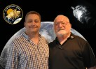 Nick Cook and Sy Liebergot at the Sheffield Workstation for his talk Apollo 13 The Longest Hour.
