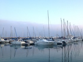 The Marina at Benalmadena. A classy place to eat despite waiting 1 1/2 hours for food during the World Cup final.