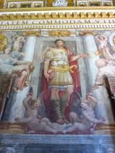 Sunning wall fresco in Castel Sant'Angelo.