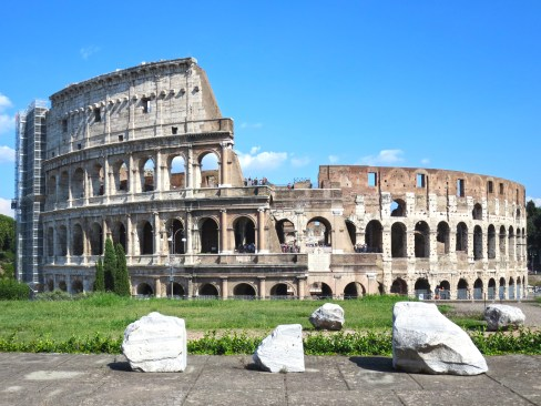 View of the Colosseum from the Temple of Venus.