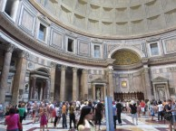 The interior of the Pantheon August 2014