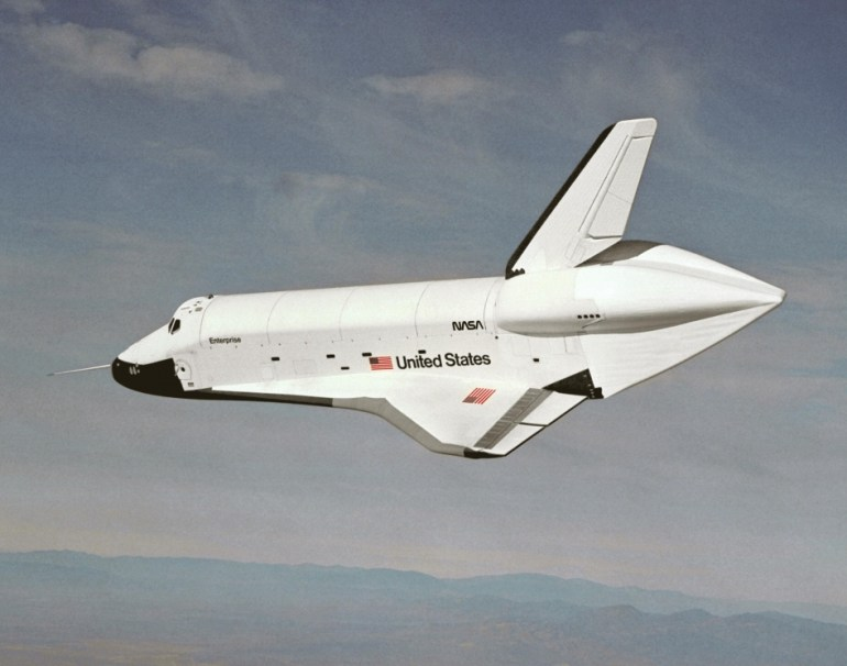 Space Shuttle Prototype Enterprise Approach and Landing Tests
