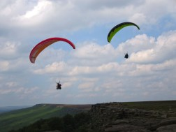 Stanage Edge gliders.