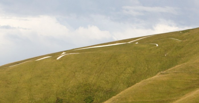 Ground view of the Uffington White Horse