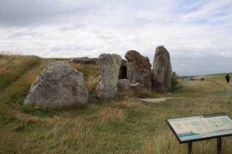 Front and side view of West Kennet Long Barrow