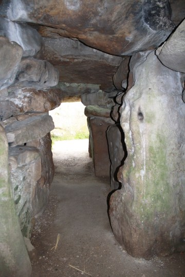 West Kennet Long Barrow interior from tomb chambers.
