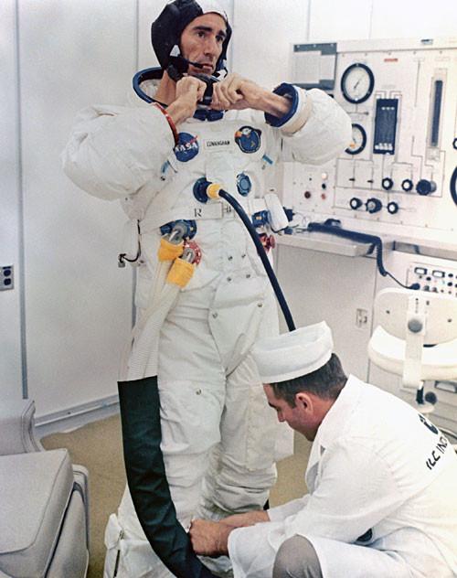 Walt Cunningham, Apollo 7 astronaut.