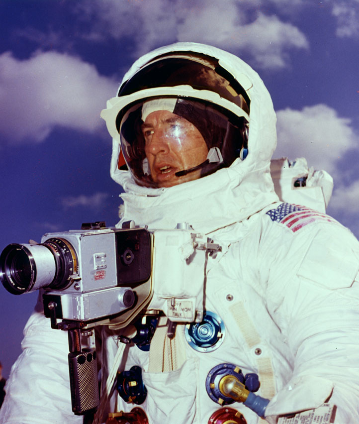Jim Lovell during Apollo 13 training.