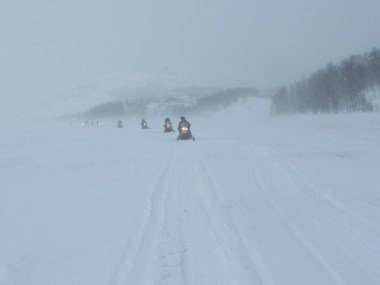 Snowmobiling in Kirkenes
