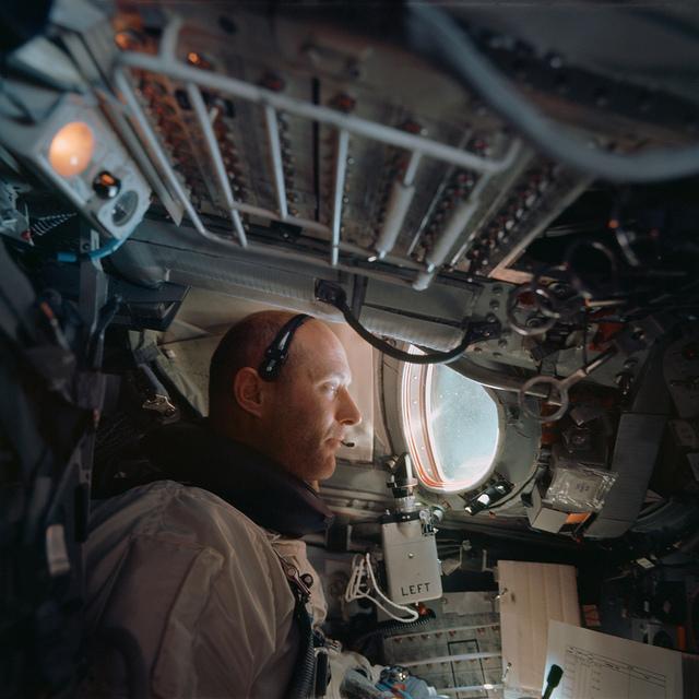 Astronaut Tom Stafford as command pilot of the Gemini 9A