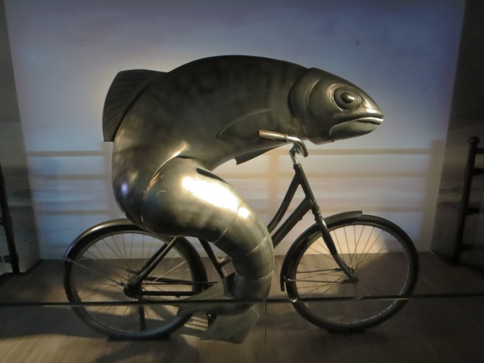 """A woman needs a man like a fish needs a bicycle"""