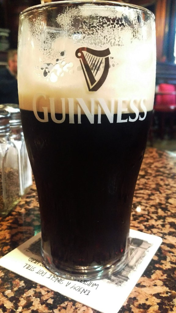 A pint of Guinness at The Stag's Head