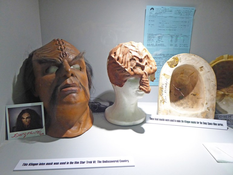 Klingon latex mask and moulds