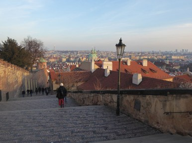 View from Prague Castle Steps