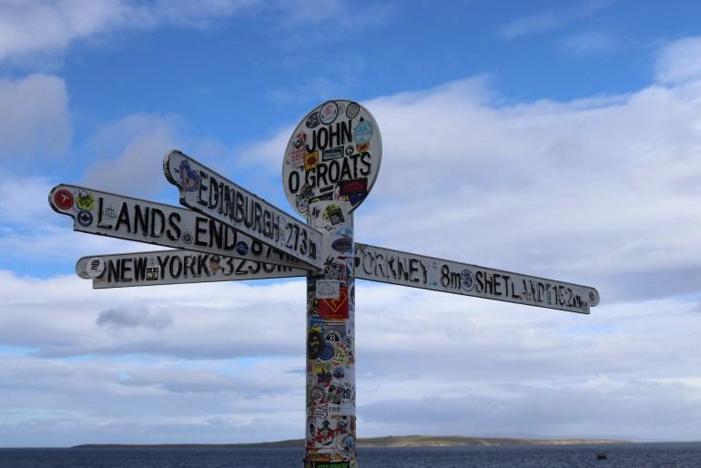 John o' Groats Orkney sign