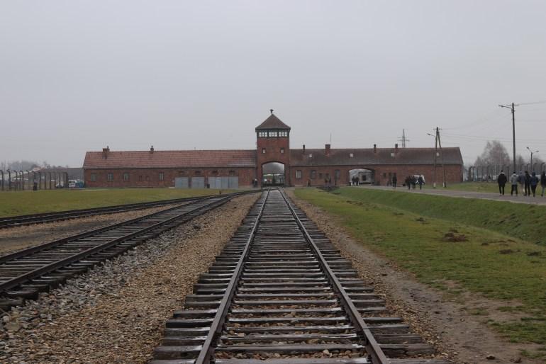 Birkenau train tracks