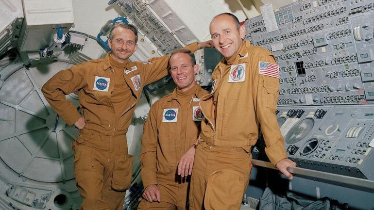 Skylab 3 crew Owen Garriott, Jack Lousma and Alan Bean