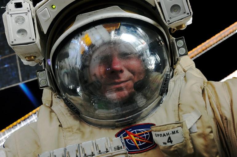 Gennady Padalka selfie in space