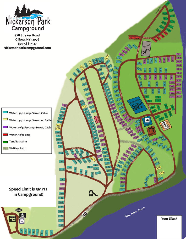 Nickerson Park Map