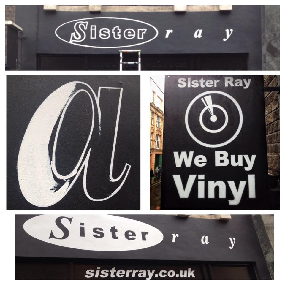 T magic Sister Ray Medley Soho signwriters