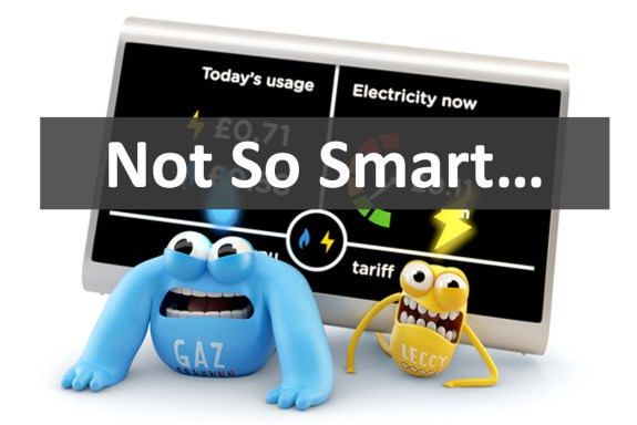 "Image from the front page of the British Infrastructure Group's report on smart metering, titled, ""Not So Smart"""