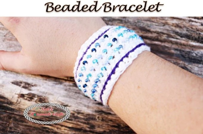 Beaded Bracelet – Free Crochet Pattern