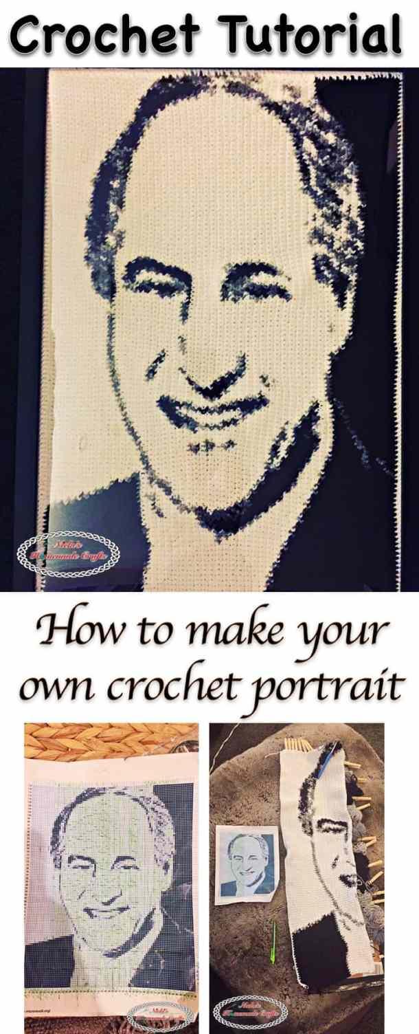 How to make your own crochet portrait - crochet tutorial