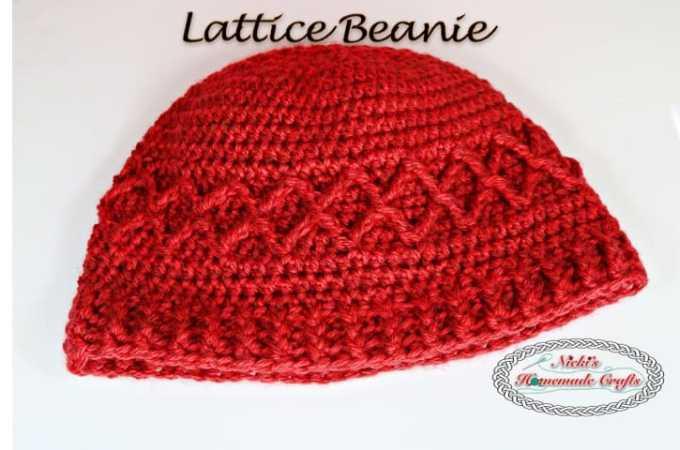Lattice beanie – Free Crochet Pattern