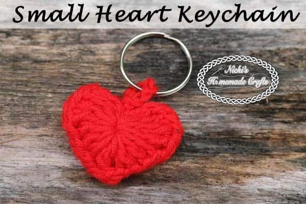 Small Heart Keychain - Free Crochet Pattern by Nicki's Homemade Crafts