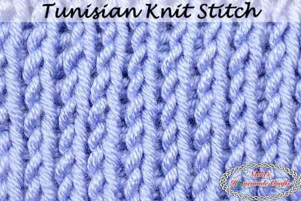 Tunisian Knit Stitch Tutorial crochet